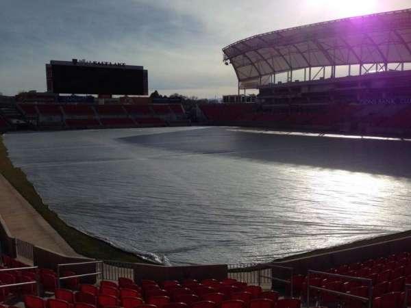 Rio Tinto Stadium, vak: 32, rij: p, stoel: 10
