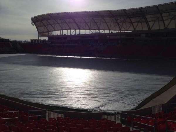 Rio Tinto Stadium, vak: 33, rij: p, stoel: 10