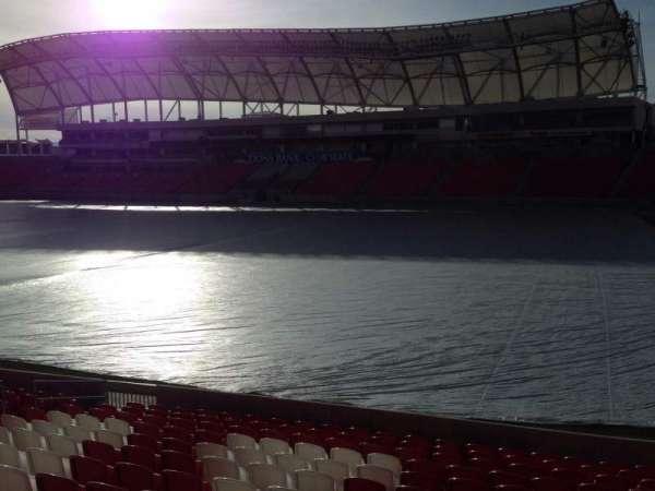 Rio Tinto Stadium, vak: 34, rij: p, stoel: 15