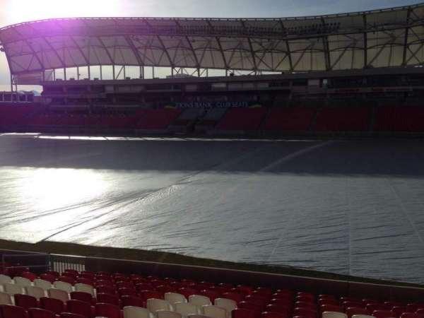 Rio Tinto Stadium, vak: 35, rij: p, stoel: 15