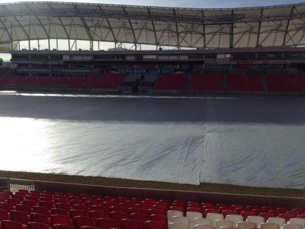Rio Tinto Stadium, vak: 36, rij: p, stoel: 15
