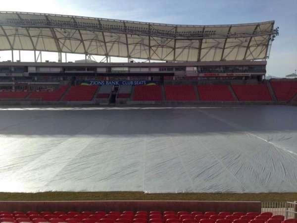 Rio Tinto Stadium, vak: 37, rij: p, stoel: 15