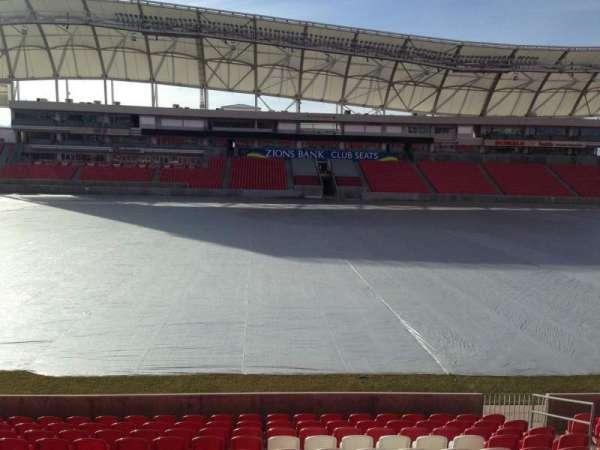 Rio Tinto Stadium, vak: 2, rij: p, stoel: 15