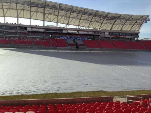 Rio Tinto Stadium, vak: 3, rij: p, stoel: 15