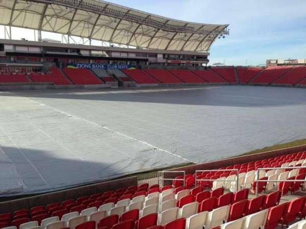Rio Tinto Stadium, vak: 5, rij: p, stoel: 14