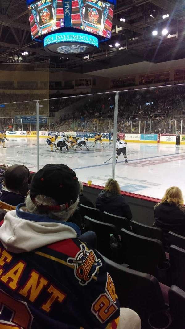 Erie Insurance Arena, vak: 121, rij: E, stoel: 5