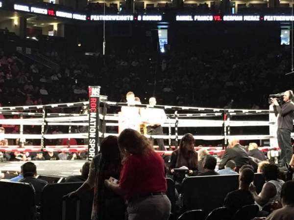 Oracle Arena, vak: 116, rij: A2, stoel: 1