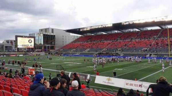 TD Place Stadium, vak: M, rij: 17, stoel: 20