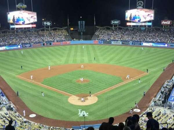 Dodger Stadium, vak: 1RS, rij: R, stoel: 11