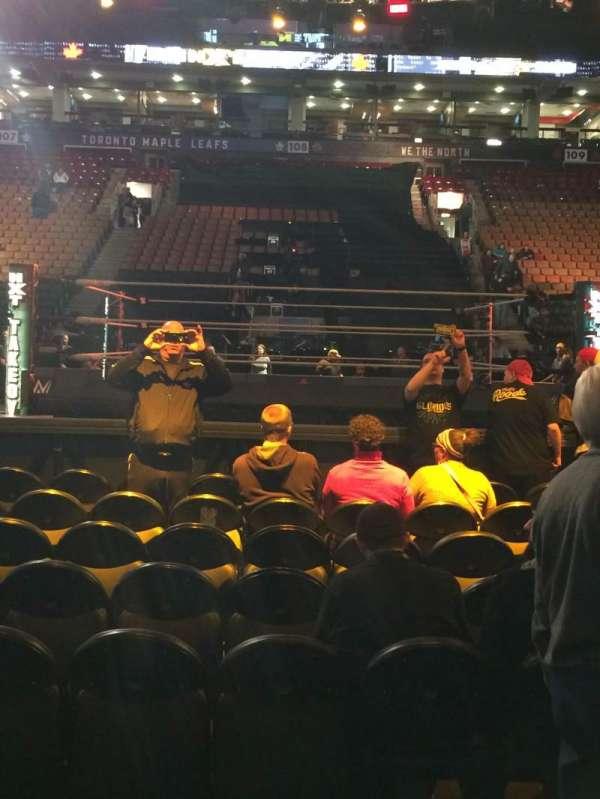 Scotiabank Arena, vak: 119, rij: 2, stoel: 13