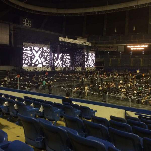 Olympic Stadium, Montreal, vak: 132, rij: OO, stoel: 7-9