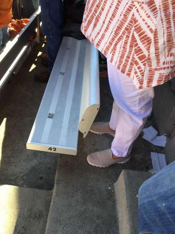 Cotton Bowl, vak: 10, rij: 42, stoel: 28