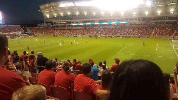 Rio Tinto Stadium, vak: 34, rij: Y, stoel: 22