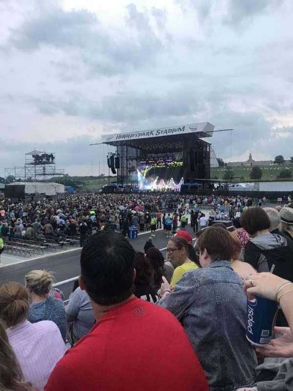 Hershey Park Stadium, vak: 28, rij: DD, stoel: 23