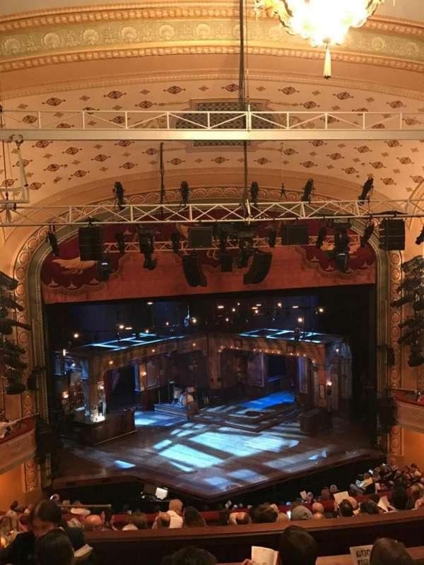 Bernard B. Jacobs Theatre, vak: Mezzanine Center, rij: H, stoel: 113