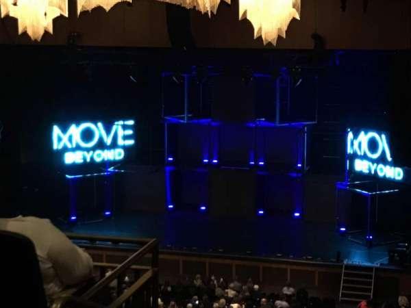 The Theater at MGM National Harbor, vak: 302, rij: K, stoel: 19