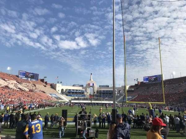 Los Angeles Memorial Coliseum, vak: 15L, rij: 7, stoel: 5