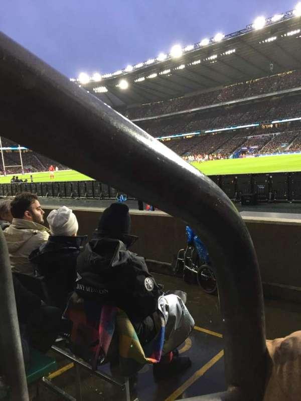 Twickenham Stadium, vak: L21, rij: 3, stoel: 93
