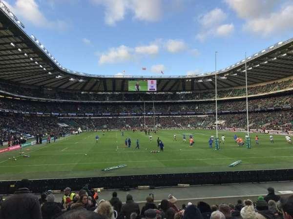 Twickenham Stadium, vak: L35, rij: 18, stoel: 207