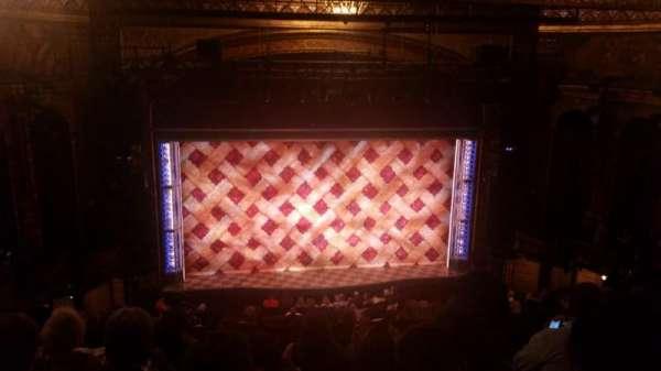 Brooks Atkinson Theatre, vak: Center Mezzanine, rij: K, stoel: 118