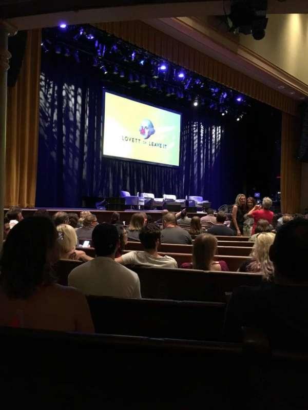 Ryman Auditorium, vak: MF-7, rij: P, stoel: 6