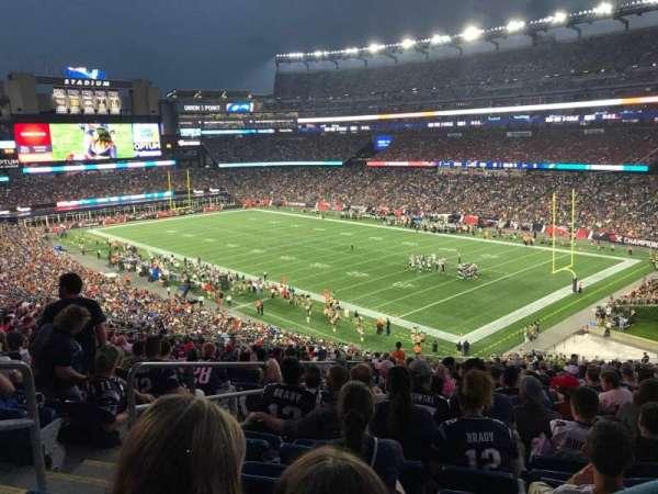 Gillette Stadium, vak: 203, rij: 24, stoel: 27
