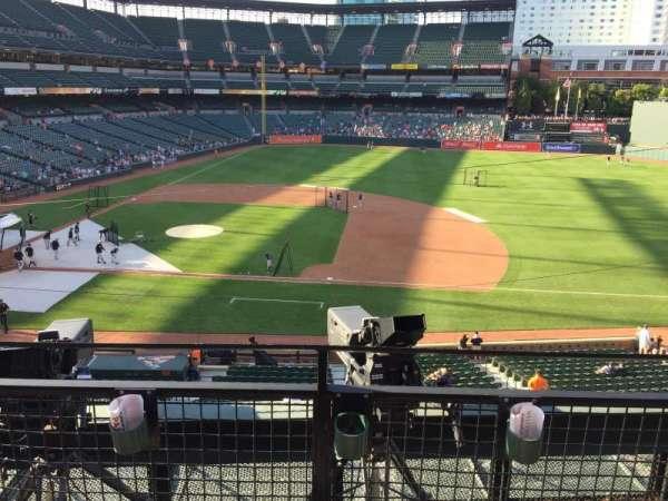 Oriole Park at Camden Yards, vak: 220, rij: 2, stoel: 3