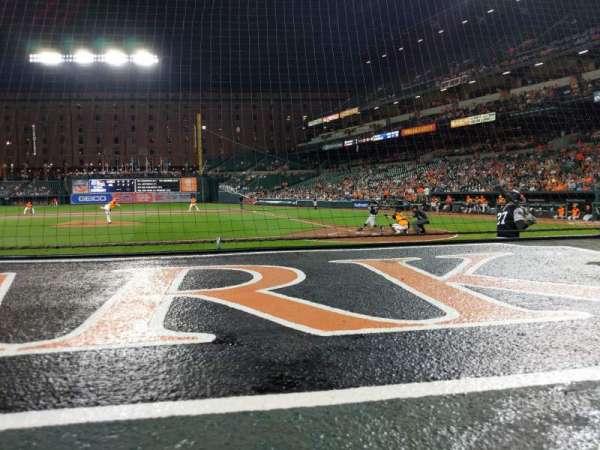 Oriole Park at Camden Yards, vak: 48, rij: 1, stoel: 10