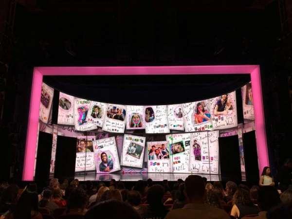 August Wilson Theatre, vak: Orchestra, rij: N, stoel: 107