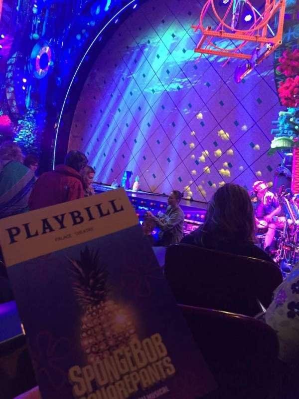 Palace Theatre (Broadway), vak: ORCH, rij: J, stoel: 4