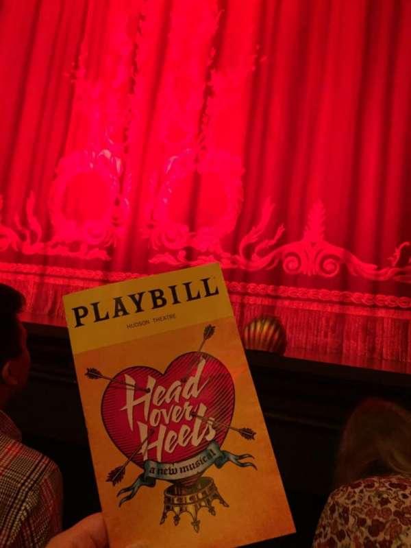 Hudson Theatre, vak: ORCH, rij: B, stoel: 112