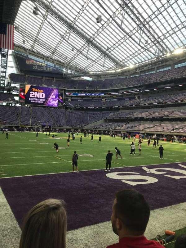 U.S. Bank Stadium, vak: 101, rij: 2, stoel: 8