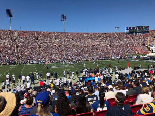 Los Angeles Memorial Coliseum, vak: 8H, rij: 17, stoel: 114
