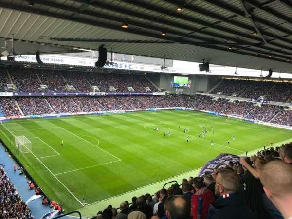 Ibrox Stadium, vak: CD7, rij: K, stoel: 315