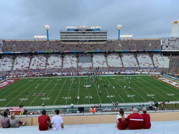 Cotton Bowl, vak: 128, rij: 12, stoel: 20