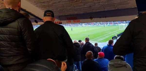Ibrox Stadium, vak: Se1, rij: X, stoel: 10