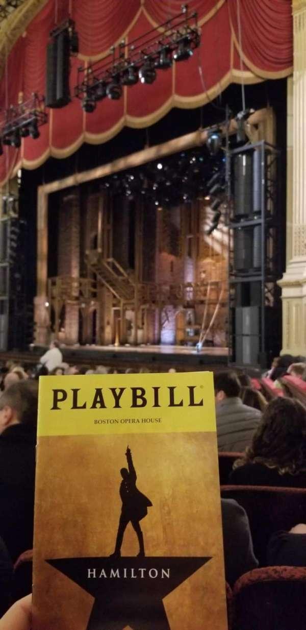 Boston Opera House, vak: Orchestra Right, rij: L, stoel: 40