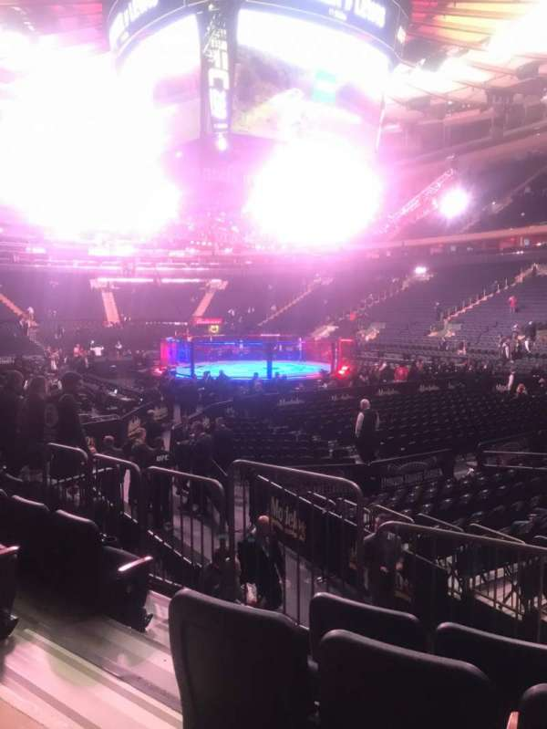 Madison Square Garden, vak: 110, rij: 7, stoel: 3