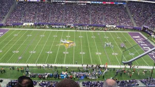 U.S. Bank Stadium, vak: 341, rij: 3, stoel: 2
