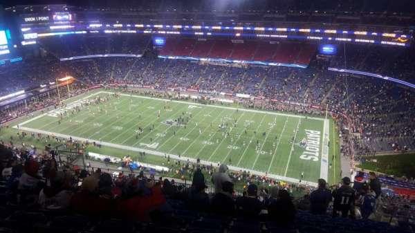 Gillette Stadium, vak: 306, rij: 20, stoel: 8