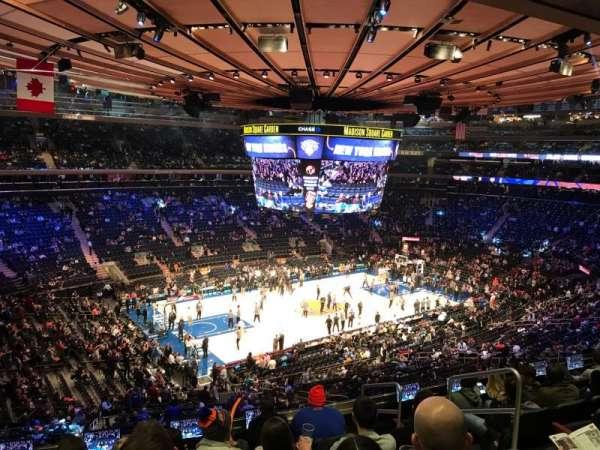 Madison Square Garden, vak: 208, rij: 8, stoel: 16
