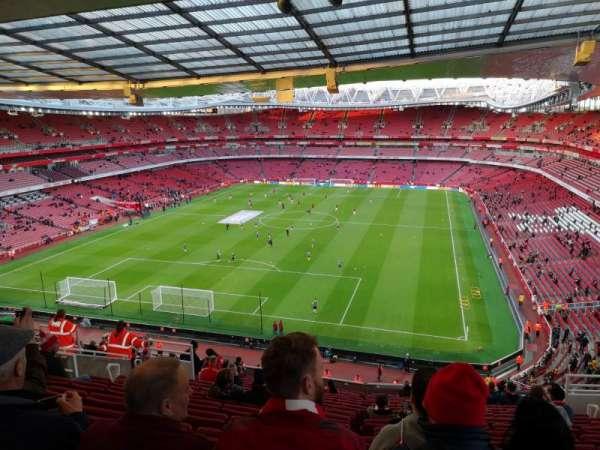 Emirates Stadium, vak: Clock end, rij: 18, stoel: 850