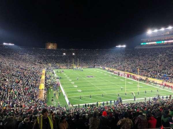 Notre Dame Stadium, vak: 121, rij: 7, stoel: 13
