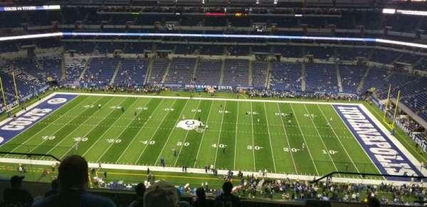 Lucas Oil Stadium, vak: 639, rij: 9, stoel: 10