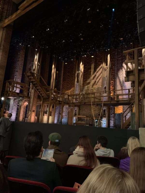 CIBC Theatre, vak: Orchestra R, rij: F, stoel: 12