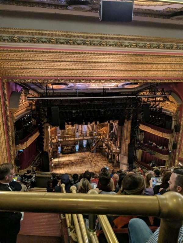CIBC Theatre, vak: BALCLC, rij: L, stoel: 419