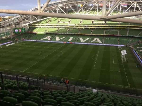 Aviva Stadium, vak: 523, rij: X, stoel: 8