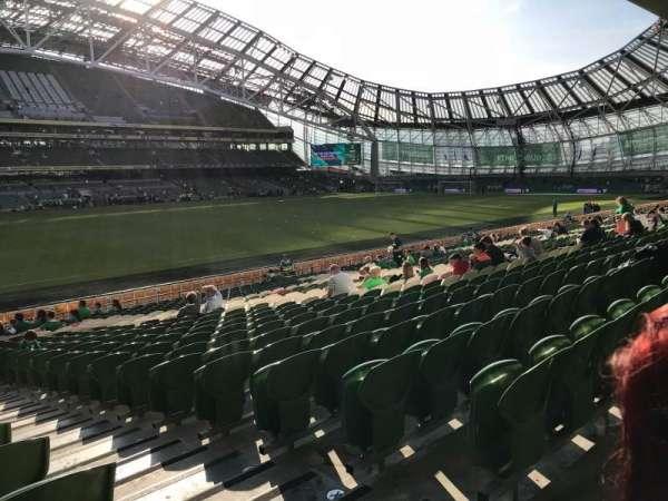 Aviva Stadium, vak: 107, rij: AA, stoel: 16