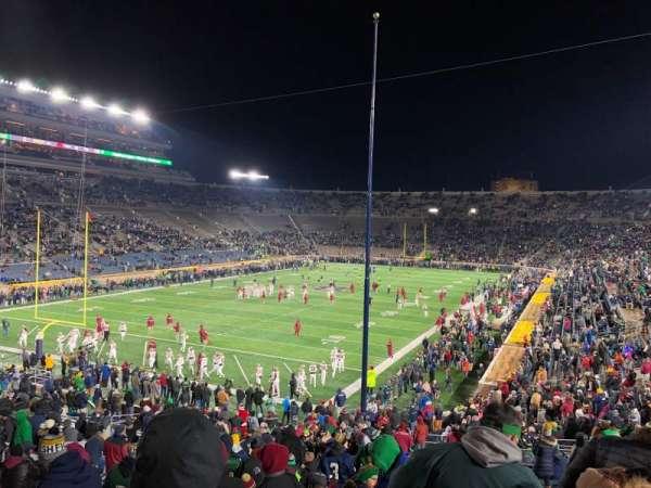 Notre Dame Stadium, vak: 16, rij: 45, stoel: 28-29