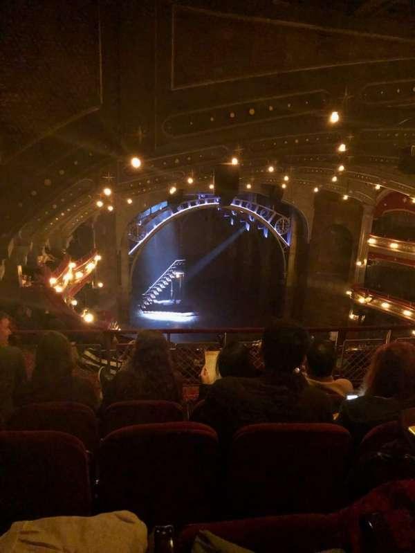Lyric Theatre, vak: BALCL, rij: F, stoel: 21